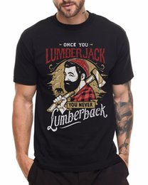 Black Cutters Australia - LUMBERJACK T SHIRT WOOD CUTTER CHOPPER BEARD Men Tee Shirt Tops Short Sleeve Cotton Fitness T-Shirts