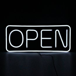 $enCountryForm.capitalKeyWord UK - Wholesalers high brightness white letters lighted sign led neon open sign with chain for business shop