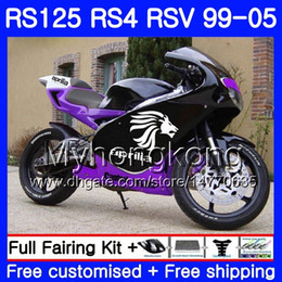 RS-125 purple blk For Aprilia RS4 RSV125R RS 125 RS125 99 00 01 02 03 04 05 318HM.19 RS125R RSV125 R 1999 2000 2001 2002 2003 2005 Fairing on Sale