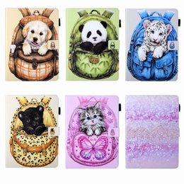China Accessories Cats Australia - Leather Case For Ipad 10.5 2019 Mini 1 2 3 4 5 ipad Air 5 6 7 8 9 9.7 Pro 11 Wallet Butterfly Flower Dog Cat Panda Bag Cute Flip Cover Pouch