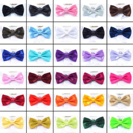 Wholesale Men Solid Bow Ties Butterfly Gentleman Wedding Party 30 Colors Adjustable Wedding Prom boe tie FFA061 500pcs