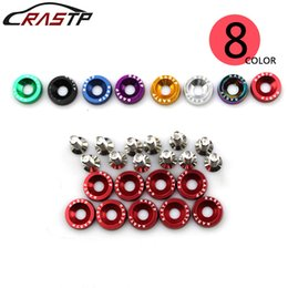 Fender Washer Jdm UK - RASTP- FreeShipping JDM Style M6 Aluminum Fender Bumper Washers Engine Screw Kit Set For Honda Civic Integra RSX EK LS-QRF002-TP