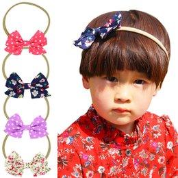 $enCountryForm.capitalKeyWord Australia - Hot sale New Baby Bowknot Dot Headbands Elastic Photography Flower Hair Band For Girls Children Hair Accessories