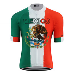 cycling jersey flags Canada - 2020 NEW-summer Mexico flag pro cycling jersey men National team bike clothing wear road mtb racing cycling clothing green bicycle clothes