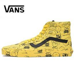 321c3d217d0 Vans Old Skool women Casual shoes Rock Flame Yacht Club Sharktooth Peanuts  Skateboard Snoopy Canvas zapatillas de deporte Sports Sneakers