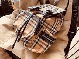 Wound string online shopping - Famous Backpack Brand Backpacks Classic Stripe Cm Wind Breaker Fabric Hot Sale New Arrival Fashion Style with Letters Inside