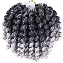 $enCountryForm.capitalKeyWord Australia - umpy Wand Curl Twist Synthetic Crochet Braids 8 inch Jamaican Bounce Crochet Braiding Hair for Black Women