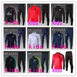 4d17aa167 Kids football jacKets online shopping - top quality Paris kids tracksuit  psg soccer jogging jacket MBAPPE
