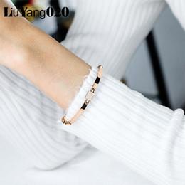 $enCountryForm.capitalKeyWord Australia - 2019 New Fashion Hollow Box Chain Link Block Crystal Bracelet Female Personalized Statement Bangle Jewelry Accessories