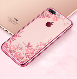Discount secret iphone - Luxury Secret Garden Bling Diamond Flowers Electroplating Soft TPU Case For iPhone XS Max XR 8 7 6S Plus Samsung S8 S9 S