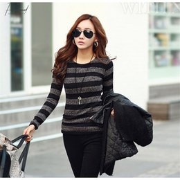 black red sweater stripe Canada - Women Designer Sweater Woman Designer Sweaters Women Winter Fashion Stripe Black White Print Knitted Pullover Female S Xxl Drop Shipping