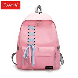 $enCountryForm.capitalKeyWord Australia - Fashion Female Backpack Casual School Bags For Girl Teenagers College Canvas Schoolbags Backpacks Chain Bagpack Women Knapsack Y19061102