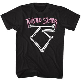 a9f53a8adfc3 Logo Metal Band UK - Twisted Sister Band Logo Adult T Shirt Heavy Metal  Music Men