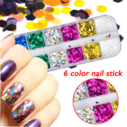 Discount rainbow nail polish - DIY Fashion Nail Patch Shiny Rainbow Rays Nail Polish Wave Art Decoration earings fashion jewelry with pearl Material At