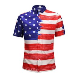 $enCountryForm.capitalKeyWord Australia - 2019 New Italian brand design luxury men's casual short-sleeved shirt fashion designer mixed color printed shirt Medusa short-sleeved shirt