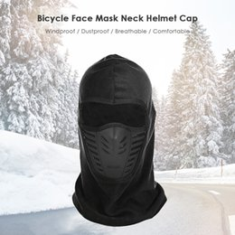 Face Mask Hiking NZ - Winter Unisex Windproof Motorcycle Bicycle Face Mask Neck Helmet Cap Thermal Fleece Hat Men Women skiing masks for hiking fishing