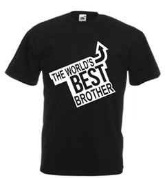 8d39e8fea Worlds Best Brother Novelty T Shirt birthday xmas gift novelty adults kids funny  Funny free shipping Casual Tshirt top