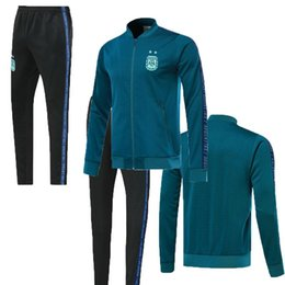 $enCountryForm.capitalKeyWord Australia - Best quality 2019 Argentine Soccer Jersey Jacket 19 20 Argentina Home Soccer MESSI DI MARIA Full zipper Football Uniform training suit