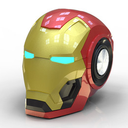 $enCountryForm.capitalKeyWord Australia - New iron man Bluetooth small speaker Creative gift novelty practical radio bass card mobile phone audio