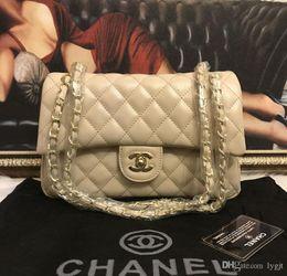 Großhandel Heißer Verkaufs-Messenger Bag BLACK Leder Umhängetaschen Totes Frauen-Weinlese Handtasche Goldkette Damen Schultertasche