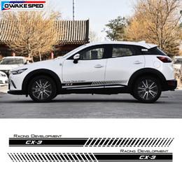 $enCountryForm.capitalKeyWord Canada - For Mazda CX-3 Car Door Side Skirt Sticker Racing Development Graphic Stripes Fashion Design Auto Body Decor Vinyl Decal