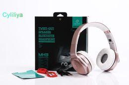 2in1 Speaker Australia - SODO MH3 NFC 2in1 Twist-out Speaker Bluetooth Headphone With FM Radio  AUX TF Card MP3 Sports Magic Wireless Headset