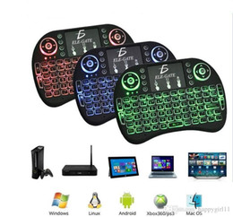 android tv box touchpad Australia - I8 Bluetooth Fly Air Mouse 2.4G Colorful Backlit Wireless Touchpad Keyboard TV box remote contro FOR Android TV Box