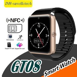 $enCountryForm.capitalKeyWord NZ - GT08 Bluetooth Smart Watch SIM Card Slot NFC Health Watchs for IOS Apple Android Smartphone Bracelet Smartwatch In retail package