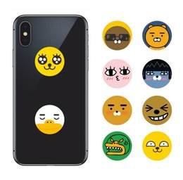 $enCountryForm.capitalKeyWord NZ - 500pcs Telescopic Phone Holder Colorful Carton Design Cute Airbag Bracket Mobile Phone Ring Bracket For For iPhone 6 6S 5S SE For Galaxy