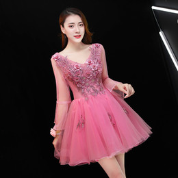 Wholesale cosplay lolita dress long sleeve for sale - Group buy Freeship long sleeve hot pink tutu short lolita dress stage performance cartoon carnival dress cosplay
