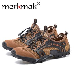 fb5c11d98216 Merkmak Brand Summer Style Male Mesh Sandals Shoes Men Couples Casual Beach  Breathable Light Lace-Up Quality Comfortable Sandal