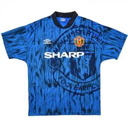 8559398c0 1992-93 1994 Man Utd Retro Soccer Jersey Beckham Giggs Stam man utd Third  home away third Cantona Kanchelskis football shirt