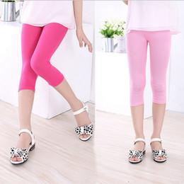 $enCountryForm.capitalKeyWord Australia - 2019 Summer Girls Modal Cotton Legging Bottoms Knee Length Pants Kids Candy Color Children Cropped Leggings For Girl 2-8years