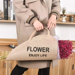 Cloth Bouquet NZ - Flower Gift cloth Handbags Bouquet Packing Box Flower Portable Case Packaging Decoration 20pc