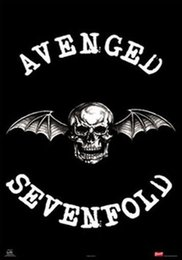 $enCountryForm.capitalKeyWord Australia - AVENGED SEVENFOLD Skull with Bat Wings Art Silk Poster 24x36inch 24x43inch 0587