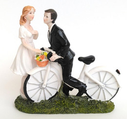 wedding bicycle Australia - new couple figurine a romantic bicycle story resin Craft ornaments style mini statue for home decor wedding birthday party decoration