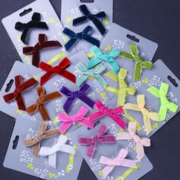 $enCountryForm.capitalKeyWord UK - 35*50mm Velvet Mini Satin Ribbon Tiny Bows Hair Applique Craft Artificial Decoration for Baby Shower Wedding Party 1000pcs