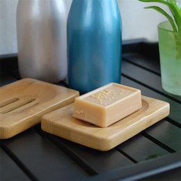 Soporte para bandejas de jabón de bambú natural de madera Jabones de madera Caja para lavar platos Contenedor Lavado Ducha Soporte de almacenamiento en venta