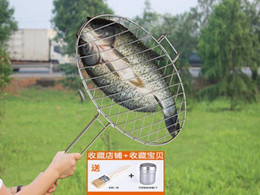 grill net Australia - Stainless steel grilled fish clip large coarse grilled fish net roast chicken home grill rack round BBQ tool outdoor barbecue
