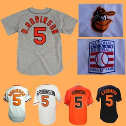 Button downs online shopping - Brooks Robinson Jersey Home Away All Stitched Baltimore Basebll Jerseys White Orange Black Pullover Button Down