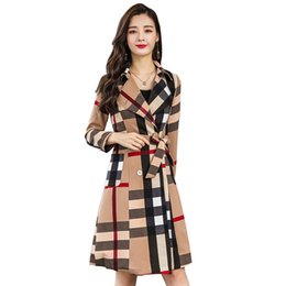 585e31b6c92 Plus size trench coat Pattern online shopping - 2019 New Plus Size Women  Trench Coat Spring