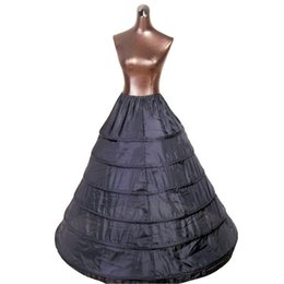 $enCountryForm.capitalKeyWord Australia - High Quality 6 Hoops Black White Slip Petticoat Underskirt For Ball Gown Wedding Dress Bridal
