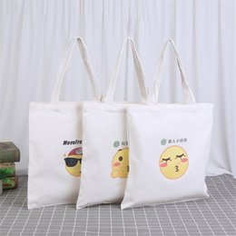 wholesale reusable tote bags Australia - New Lady Foldable Recycle Shopping Bag Eco Reusable Shopping Tote Bag Cartoon Face Fruit Vegetable Grocery
