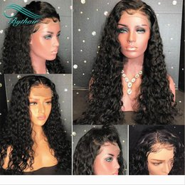 Deep Curly 360 Human Hair Lace Wigs Brazilian Virgin Hair Pre-plucked Bleached Knots 360 Lace front Wigs With Baby Hairs For Black Women