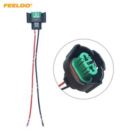 $enCountryForm.capitalKeyWord UK - wholesale Car H11 881 Headlight Lamp Holder Socket LED HID Halogen Light Connector Wiring Harness Plug Adapter #5962