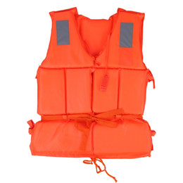 Wholesale 2 pcsUniversal Children Adult Life Vest Swimming Boat Beach Outdoor Survival Emergency Aid Safety Jacket For Kid With Whistle C19041201