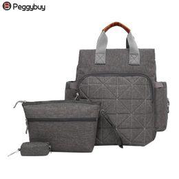 $enCountryForm.capitalKeyWord Australia - 3pcs Set Women Mother Nylon Waterproof Backpacks Key Holder Clutch Wristlets Large Capacity Composite Backpacks #252308