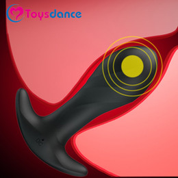 male masturbator anus NZ - Toysdance 12 Speeds Silicone Anal Vibrator For Women And Men Adult Sex Toy Anus Masturbator Butt Plug For Beginners Usb Charging Y19062802