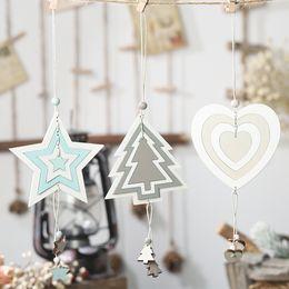 $enCountryForm.capitalKeyWord Australia - 2020 New Year Xmas Pentagram Heart Pattern Christmas Tree Wooden Ornaments Pendant Decoration Party Houses Pendant Car