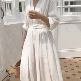 8b244f9532b Cute korean women Clothing online shopping - Korean Women Casual Dress  Solid Ankle Length Autumn Party